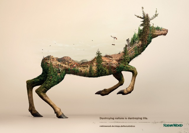 Destroying-Nature-Is-Destoying-Life-Deer-Poster
